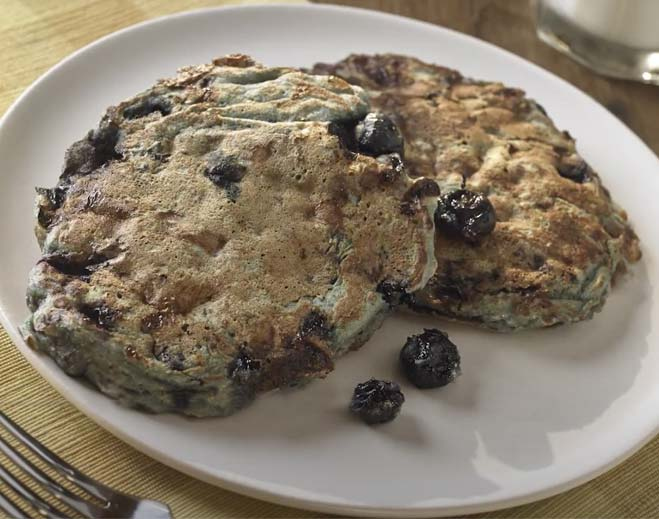 cottage cheese very blueberry pancakes